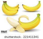 Banana On White Background...