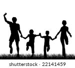 editable vector silhouette of a ... | Shutterstock .eps vector #22141459