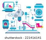 vector industrial illustration... | Shutterstock .eps vector #221416141