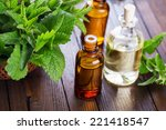 essential aroma oil with... | Shutterstock . vector #221418547