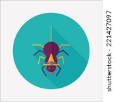 halloween spider flat icon with ...   Shutterstock .eps vector #221427097