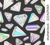 seamless vector pattern of hand ... | Shutterstock .eps vector #221429365