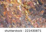 Red Marble Rock Close Up