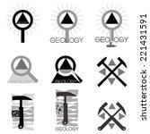 Geology Emblem Set Of Emblems...