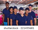 group of happy clothing factory ... | Shutterstock . vector #221455681