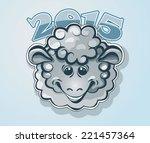 happy new year. symbol of 2015.   Shutterstock .eps vector #221457364