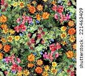 wild flowers seamless pattern... | Shutterstock .eps vector #221463409