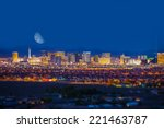 Las Vegas Strip And The Moon....