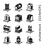 metal containers icon set  ... | Shutterstock .eps vector #221464291