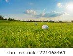golf course   Shutterstock . vector #221468461