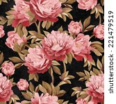 seamless floral pattern with... | Shutterstock . vector #221479519
