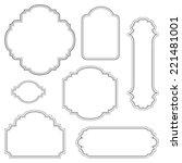 empty blank vintage frame  set  ... | Shutterstock .eps vector #221481001