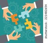 business  concept. illustration ... | Shutterstock .eps vector #221482654