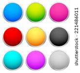 colorful badges  empty circles | Shutterstock .eps vector #221486011