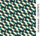 isometric vector seamless... | Shutterstock .eps vector #221487871