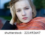 portrait of a beautiful young... | Shutterstock . vector #221492647