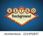 retro american advertising... | Shutterstock .eps vector #221492857