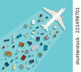 bitmap modern flat style... | Shutterstock . vector #221498701