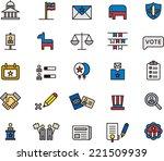 usa politics icons   Shutterstock .eps vector #221509939