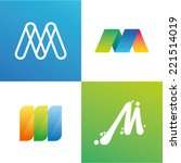 vector illustration letter m set | Shutterstock .eps vector #221514019
