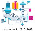 vector industrial illustration... | Shutterstock .eps vector #221519437