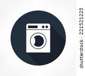 washing machine icon | Shutterstock .eps vector #221521225