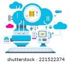 vector industrial illustration... | Shutterstock .eps vector #221522374