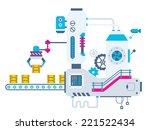 vector industrial illustration... | Shutterstock .eps vector #221522434