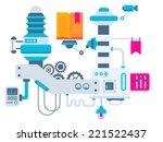 vector industrial illustration... | Shutterstock .eps vector #221522437