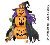 illustration of halloween... | Shutterstock .eps vector #221531599