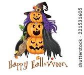 illustration of halloween... | Shutterstock .eps vector #221531605