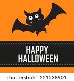 happy halloween bat   Shutterstock .eps vector #221538901