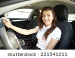 girl in the car | Shutterstock . vector #221541211