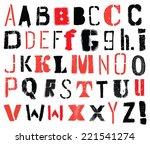 Vector Alphabet. Stencil. Hand...