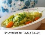 Cabbage Soup  Closeup