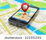 mobile gps navigation concept.... | Shutterstock . vector #221551531