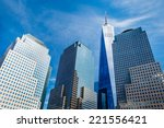 skyscrapers rising up to sky on ... | Shutterstock . vector #221556421