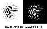 dots circle   design element