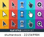 flat style vector cursors with... | Shutterstock .eps vector #221569984