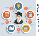 education concept info graphic... | Shutterstock .eps vector #221570659