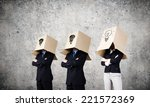 unrecognizable business people... | Shutterstock . vector #221572369
