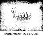 design template.abstract grunge ... | Shutterstock .eps vector #221577901