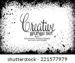 design template.abstract grunge ... | Shutterstock .eps vector #221577979