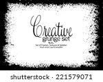 design template.abstract grunge ... | Shutterstock .eps vector #221579071