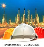 safety helmet against beautiful ... | Shutterstock . vector #221590531