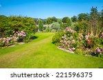 beautiful landscaped summer... | Shutterstock . vector #221596375