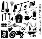 agricultural equipment and farm ... | Shutterstock .eps vector #221603389