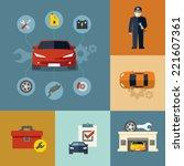 auto repair shop | Shutterstock .eps vector #221607361