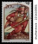 poland   circa 1986  a stamp... | Shutterstock . vector #221610001