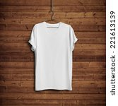 white blank t shirt on dark... | Shutterstock . vector #221613139